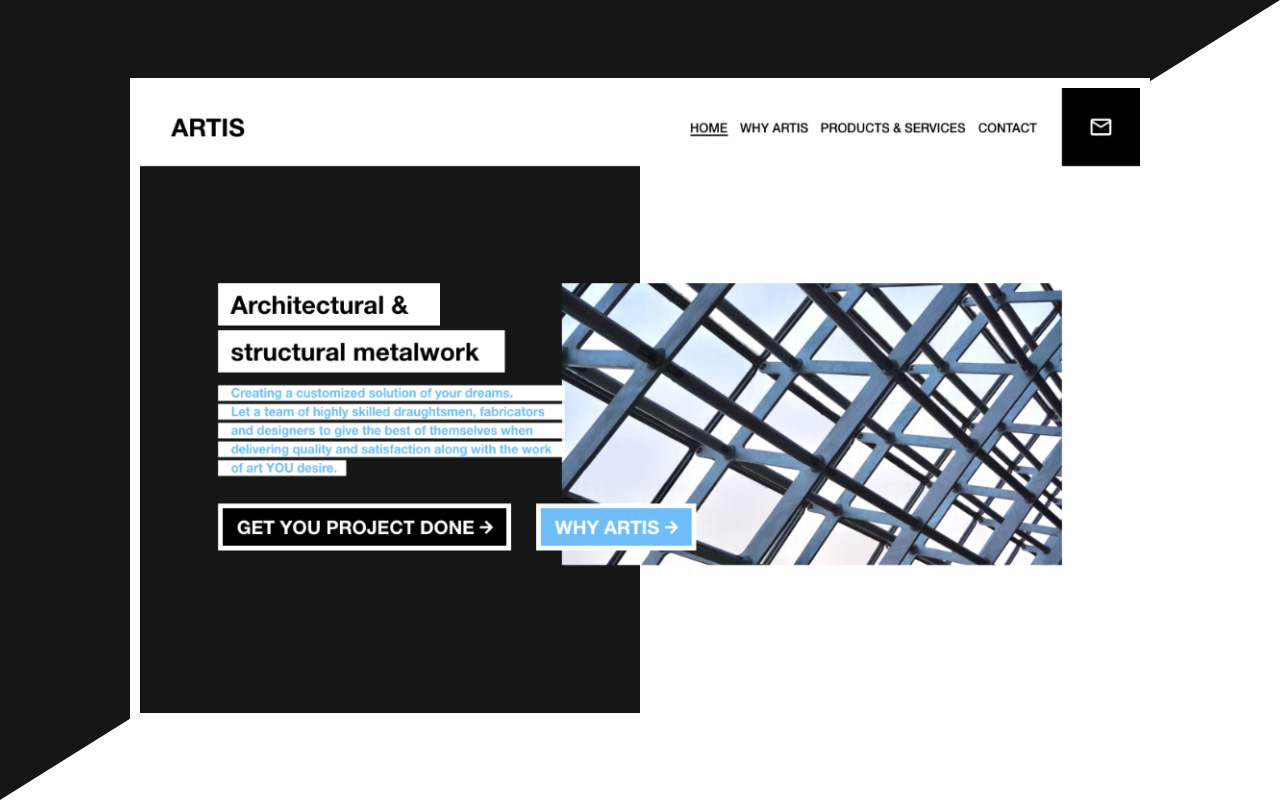Thumbnail of Web Design for Architectural & structural metalwork company