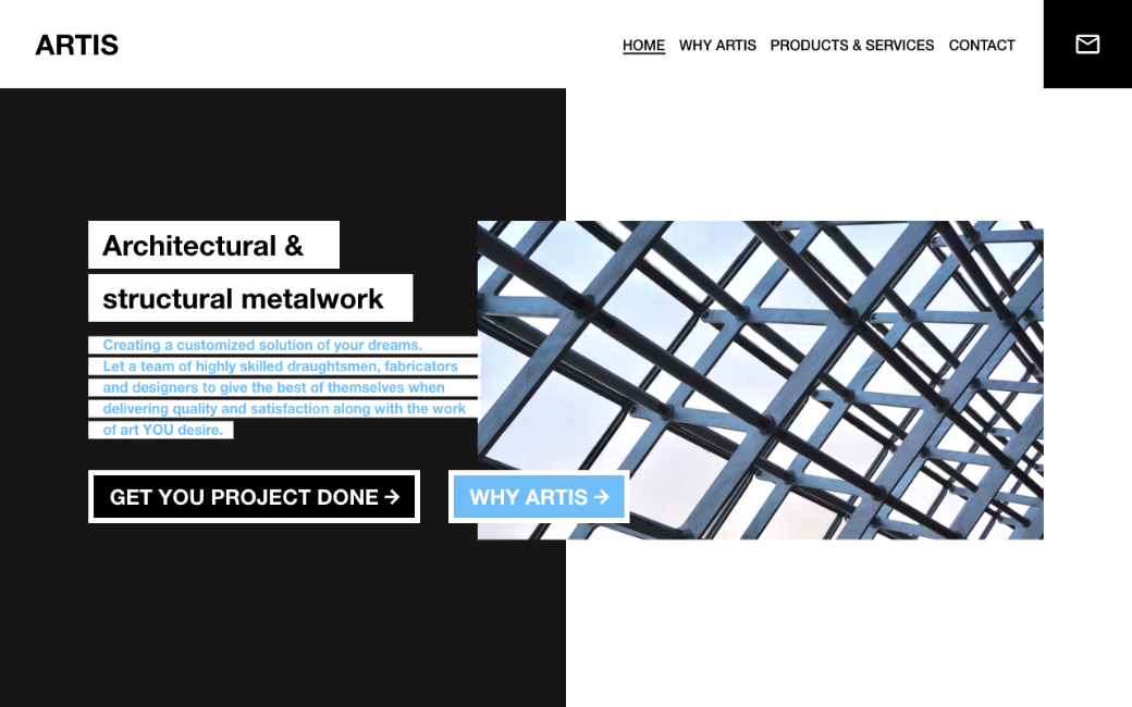 | Architectural & structural metalwork website. | London, UK
